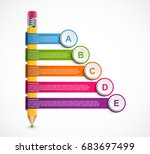 infographics template with... | Shutterstock .eps vector #683697499