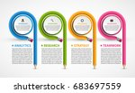 infographics template with... | Shutterstock .eps vector #683697559