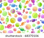 colorful striped candy seamless ... | Shutterstock .eps vector #68370106