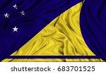 3d flag of tokelau silk texture | Shutterstock . vector #683701525