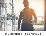 engineer working on checking... | Shutterstock . vector #683704135