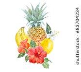 Watercolor Print Of Pineapple ...