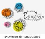 illustration greeting card of... | Shutterstock .eps vector #683706091