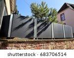 stainless steel garden fence... | Shutterstock . vector #683706514