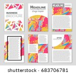 abstract vector layout... | Shutterstock .eps vector #683706781
