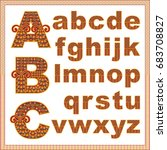vector abstract alphabet with... | Shutterstock .eps vector #683708827