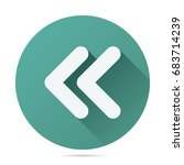 back double arrow icon vector... | Shutterstock .eps vector #683714239