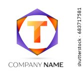 letter t logo symbol in the...   Shutterstock . vector #683717581