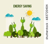 energy saving concept with... | Shutterstock .eps vector #683720404