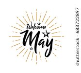 welcome may   firework   vector ... | Shutterstock .eps vector #683722897