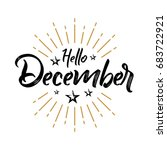 hello december   firework  ...   Shutterstock .eps vector #683722921