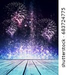 abstract sparkly stage with... | Shutterstock . vector #683724775