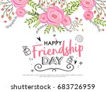 beautiful illustration of happy ... | Shutterstock .eps vector #683726959