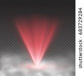 Light Laser Effect In Fog...