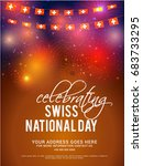 celebrating switzerland... | Shutterstock .eps vector #683733295