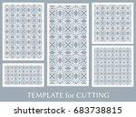decorative panels set for laser ... | Shutterstock .eps vector #683738815