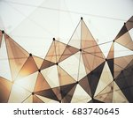 abstract light low poly... | Shutterstock . vector #683740645