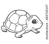 Cartoon Cute Turtle Coloring...