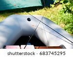 spinning for fishing in an... | Shutterstock . vector #683745295