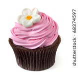 Chocolate Cupcake With Pink...