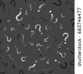 question mark seamless pattern .... | Shutterstock .eps vector #683746477
