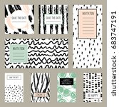 set of hand drawn texture... | Shutterstock .eps vector #683747191