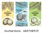 labels for package design with... | Shutterstock .eps vector #683748919