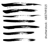 ink vector brush strokes set.... | Shutterstock .eps vector #683749315