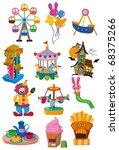 cartoon playground icon | Shutterstock .eps vector #68375266