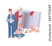 lifelong learning concept ... | Shutterstock .eps vector #683753689