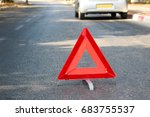 a broken car in the middle of... | Shutterstock . vector #683755537