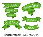 vector natural food  eco ... | Shutterstock .eps vector #683759044