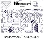 mega collection with design... | Shutterstock .eps vector #683760871