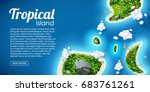tropical island top view sea... | Shutterstock .eps vector #683761261