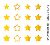 set of stars with different... | Shutterstock .eps vector #683764141