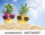 Couple pineapple wearing...
