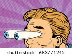 cartoon eyes popping out  shock ... | Shutterstock .eps vector #683771245