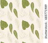 floral vector seamless pattern... | Shutterstock .eps vector #683771989