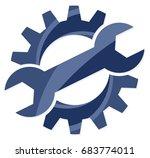 gear logo.  | Shutterstock .eps vector #683774011
