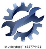 gear logo.  | Shutterstock . vector #683774431