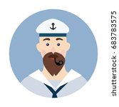 portrait of a bearded sailor... | Shutterstock .eps vector #683783575