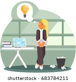 businesswoman with business... | Shutterstock .eps vector #683784211