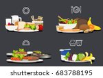sample food at each meal. foods ... | Shutterstock .eps vector #683788195