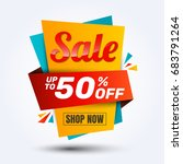 super sale discount banner... | Shutterstock .eps vector #683791264
