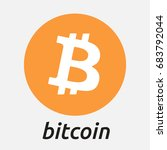 bitcoin vector logo. crypto... | Shutterstock .eps vector #683792044