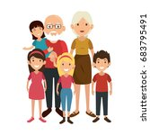 family with kids | Shutterstock .eps vector #683795491