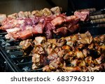 preparation bbq on the... | Shutterstock . vector #683796319