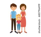 family with kids | Shutterstock .eps vector #683796499