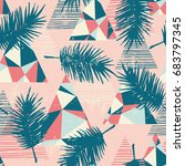 seamless exotic pattern with... | Shutterstock .eps vector #683797345