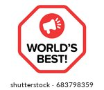 world's best flat badge vector... | Shutterstock .eps vector #683798359